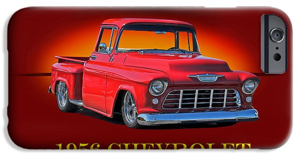 Slam Photographs iPhone Cases - 1956 Chevrolet Custom Pick Up iPhone Case by Dave Koontz