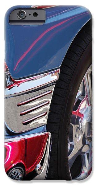 Wagon Wheels Photographs iPhone Cases - 1956 Chevrolet Handyman Wagon Wheel -179c iPhone Case by Jill Reger
