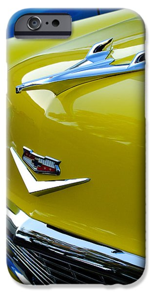1956 Chevrolet Hood Ornament 3 iPhone Case by Jill Reger