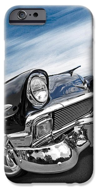 Automotive iPhone Cases - 1956 Chevrolet with Blue Skies iPhone Case by Gill Billington