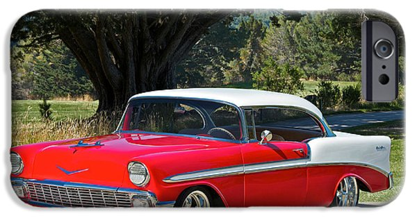 Slam Photographs iPhone Cases - 1956 Chevy Bel Air West iPhone Case by Dave Koontz