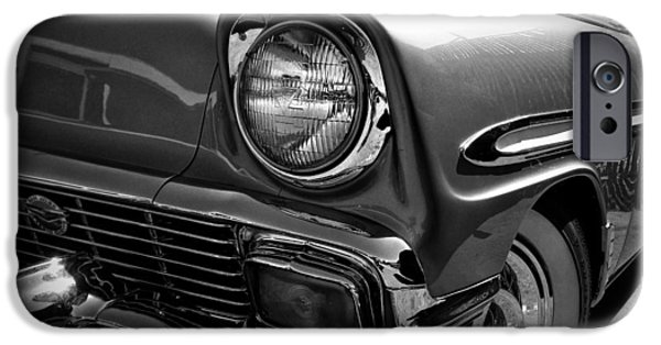 Automotive Pyrography iPhone Cases - 1956 Chevy iPhone Case by Mark Meyer