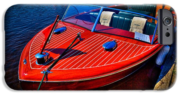 David Patterson iPhone Cases - 1956 Chris-Craft Capri Classic Runabout iPhone Case by David Patterson
