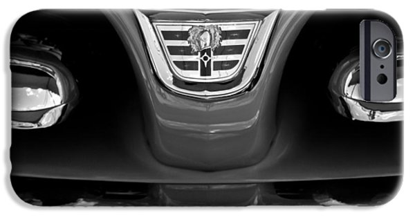 Lancer iPhone Cases - 1956 Dodge Royal Lancer Grille Emblem iPhone Case by Jill Reger