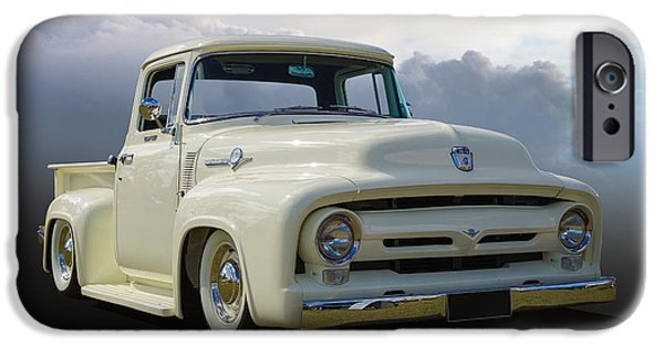 1956 Ford Truck iPhone Cases - 1956 F100 iPhone Case by Keith Hawley