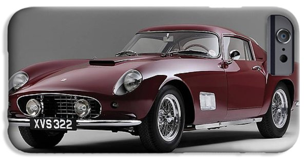 Cars iPhone Cases - 1956 Ferrari GT 250 Tour de France iPhone Case by Gianfranco Weiss