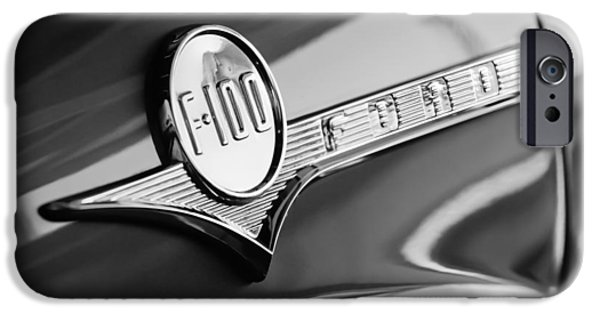1956 Ford Truck iPhone Cases - 1956 Ford F-100 Pickup Truck Emblem iPhone Case by Jill Reger