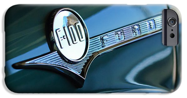 1956 Ford Truck iPhone Cases - 1956 Ford F-100 Truck Emblem iPhone Case by Jill Reger