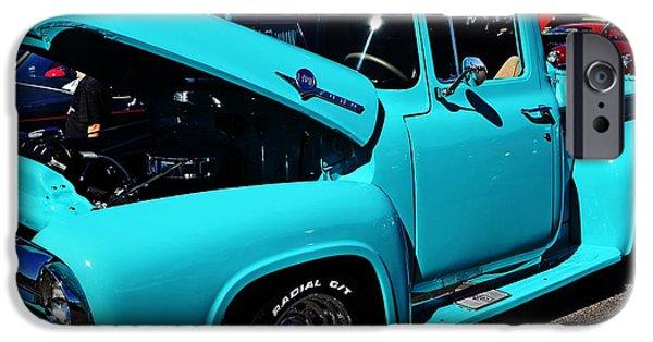 1956 Ford Truck iPhone Cases - 1956 Ford F100 Pick Up  iPhone Case by JW Hanley