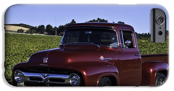 1956 Ford Truck iPhone Cases - 1956 Ford Pickup iPhone Case by Patricia Stalter