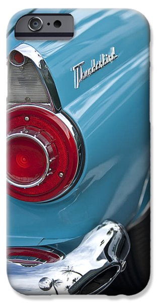 1956 iPhone Cases - 1956 Ford Thunderbird Taillight and Emblem iPhone Case by Jill Reger