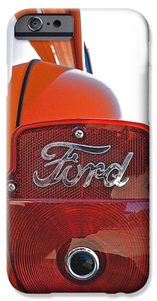 1956 Ford Truck iPhone Cases - 1956 Ford Truck Rear Taillight  iPhone Case by Bill Owen