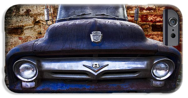 1956 Ford Truck iPhone Cases - 1956 Ford V8 iPhone Case by Debra and Dave Vanderlaan