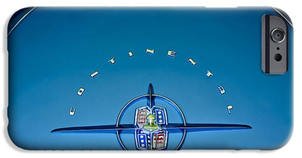 1956 iPhone Cases - 1956 Lincoln Continental Mark II Emblem iPhone Case by Jill Reger