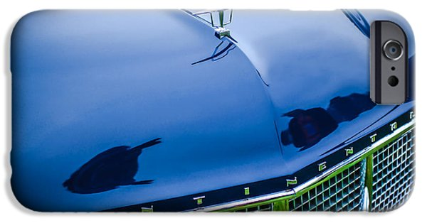 Lincoln iPhone Cases - 1956 Lincoln Continental Mark II Hess and Eisenhardt Convertible Grille Emblem - Hood Ornament iPhone Case by Jill Reger