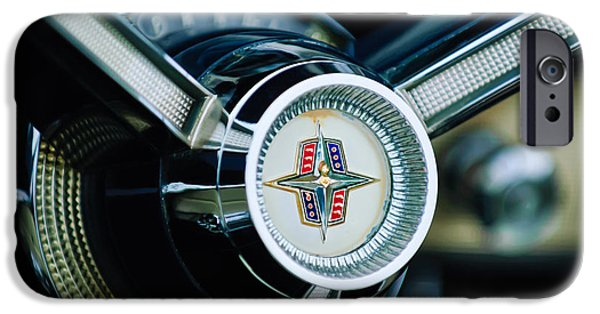 1956 iPhone Cases - 1956 Lincoln Continental Mark II Hess and Eisenhardt Convertible Steering Wheel Emblem iPhone Case by Jill Reger