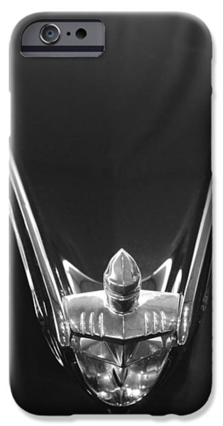 1956 Lincoln Premiere Convertible Hood Ornament 2 iPhone Case by Jill Reger