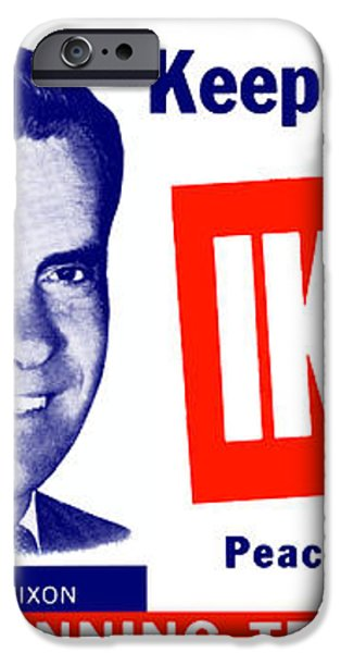 1956 Vote Ike and Dick iPhone Case by Historic Image