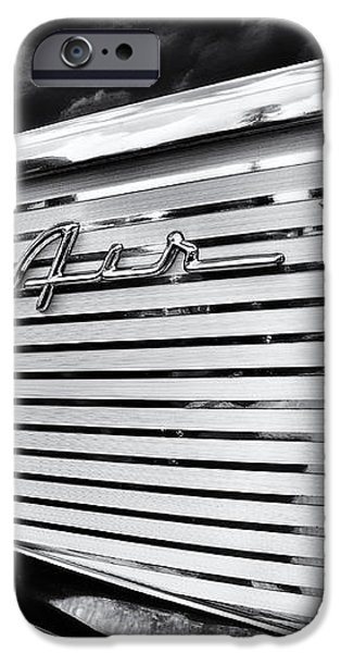 1957 Chevrolet Bel Air Monochrome iPhone Case by Tim Gainey