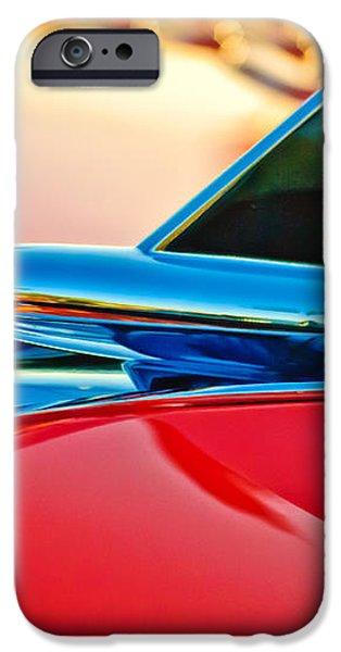 1957 Chevrolet Belair Hood Ornament iPhone Case by Jill Reger