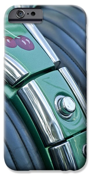 1957 Chevrolet Corvette Glove Box iPhone Case by Jill Reger