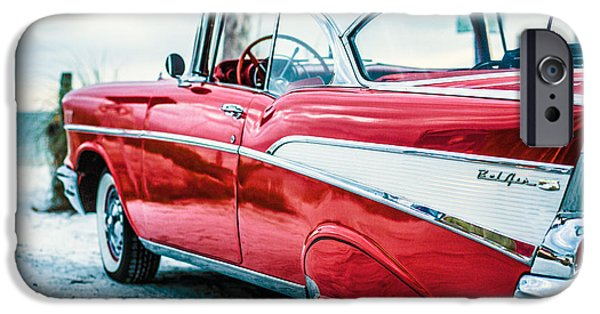 Size iPhone Cases - 1957 Chevy Bel Air iPhone Case by Edward Fielding
