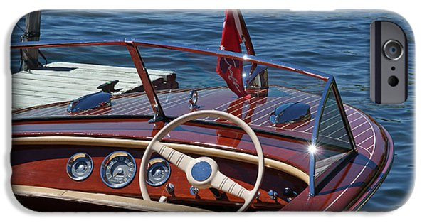 Recently Sold -  - Pleasure iPhone Cases - 1957 Chris Craft Holiday iPhone Case by Neil Zimmerman