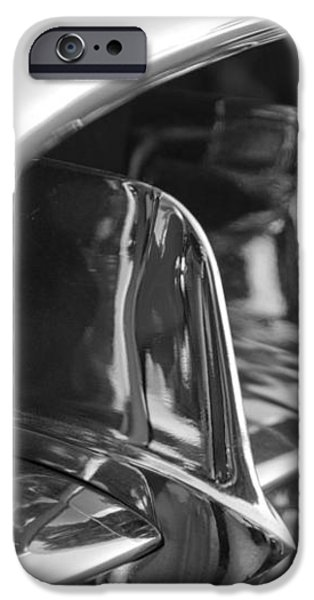 1957 Corvette Grille black and white iPhone Case by Jill Reger