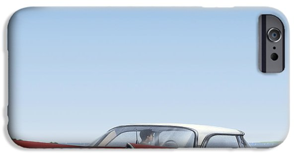 Airbrush iPhone Cases - 1957 De Soto - Square Format Image Picture iPhone Case by Walt Curlee