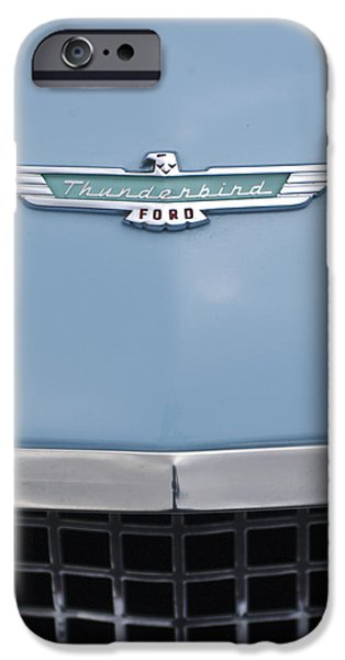 Fifties iPhone Cases - 1957 Ford Thunderbird Hood Ornament 2 iPhone Case by Jill Reger