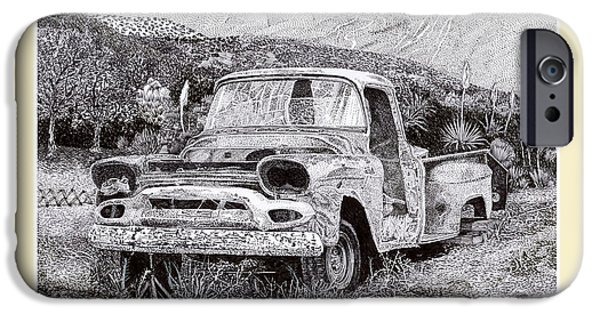 At Arrivals iPhone Cases - 1957 G M C Pick Up Truck iPhone Case by Jack Pumphrey