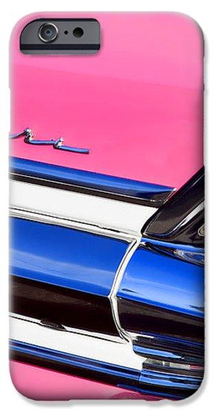 1957 Pontiac Safari Two-Door Wagon iPhone Case by Carol Leigh