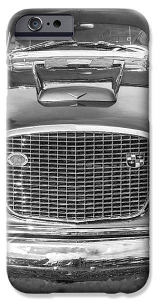 1957 Studebaker Golden Hawk BW iPhone Case by Rich Franco