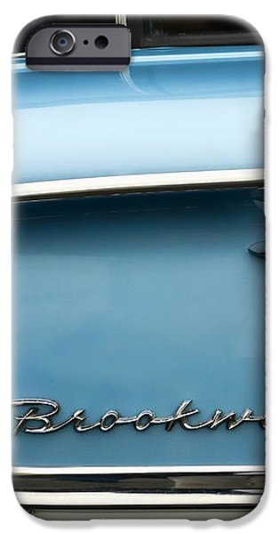 1958 Chevrolet Brookwood Station Wagon iPhone Case by Carol Leigh