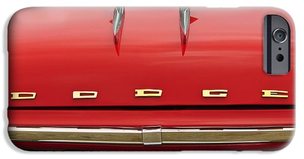 Coronet iPhone Cases - 1958 Dodge Coronet Super D-500 Convertible Hood Ornament iPhone Case by Jill Reger