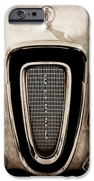 Pacers iPhone Cases - 1958 Edsel Pacer Grille Emblem - Hood Ornament iPhone Case by Jill Reger