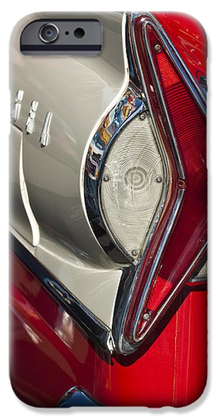 Historic Vehicle iPhone Cases - 1958 Edsel Wagon Tail Light iPhone Case by Jill Reger