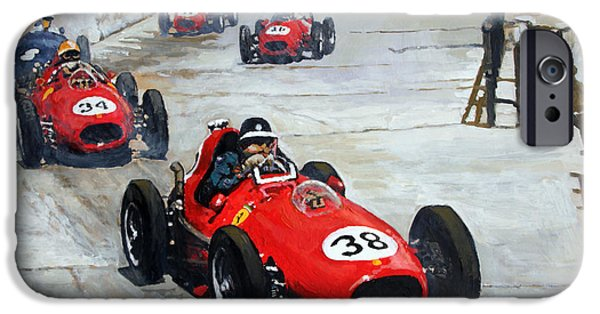 Classic F1 iPhone Cases - 1958 Monaco GP  iPhone Case by Yuriy Shevchuk