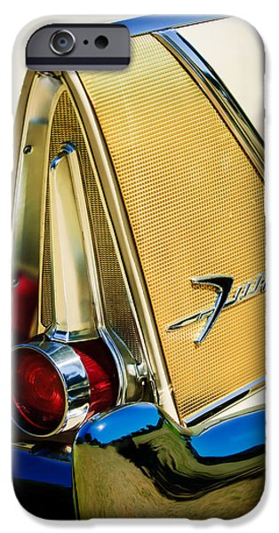 Fury iPhone Cases - 1958 Plymouth Fury Golden Commando Taillight Emblem -3467c iPhone Case by Jill Reger