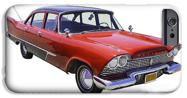 Fury iPhone Cases - 1958 Plymouth Savoy Classic Car iPhone Case by Keith Webber Jr