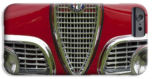 Vintage Car iPhone Cases - 1959 Alfa Romeo Giulietta Sprint Grille iPhone Case by Jill Reger