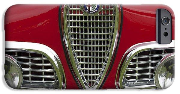 Sprint iPhone Cases - 1959 Alfa Romeo Giulietta Sprint Grille iPhone Case by Jill Reger
