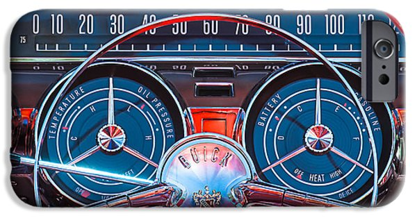 Vintage Car iPhone Cases - 1959 Buick Lesabre Steering Wheel iPhone Case by Jill Reger