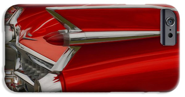 Airbrush iPhone Cases - 1959 Cadillac iPhone Case by Jack Zulli