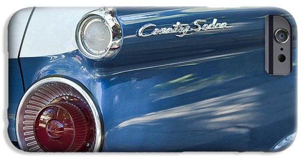 Fifties iPhone Cases - 1959 Ford Country Sedan Tail Light iPhone Case by Jill Reger