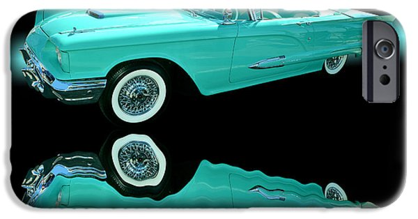 Cars iPhone Cases - 1959 Ford Thunderbird iPhone Case by Jim Carrell