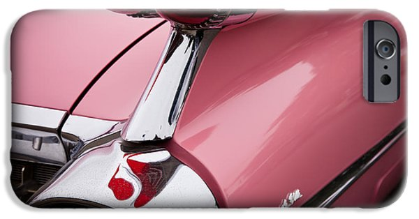 David iPhone Cases - 1959 Pink Cadillac Convertible II iPhone Case by David Patterson