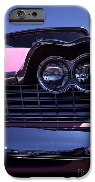 Fury iPhone Cases - 1959 Pink Plymouth Fury with Balloon iPhone Case by Anna Lisa Yoder
