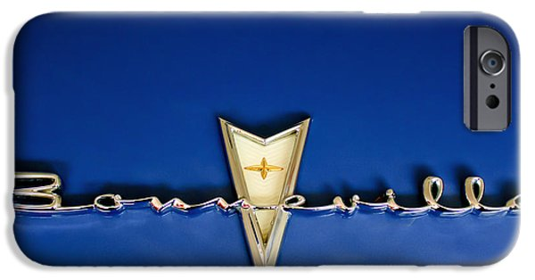 Hoodies iPhone Cases - 1959 Pontiac Bonneville Emblem iPhone Case by Jill Reger
