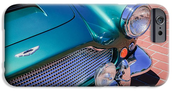 1960 iPhone Cases - 1960 Aston Martin DB4 Series II Grille iPhone Case by Jill Reger